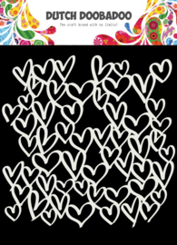 DDBD Dutch Mask Art Hearts 150 x 150 mm
