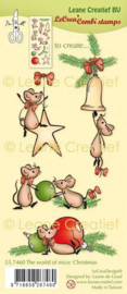 Clear stamp The world of mice Kerst 55.7460