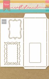Craft stencil A4 - Slimline envelope PS8079