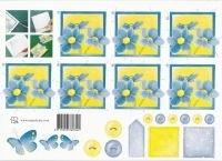 knipvel: geel-blauwe bloem