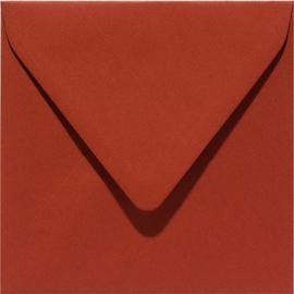 vierkante envelop (14 x 14 cm) steenrood (935) voorheen 35 steenrood