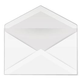 Pakje rechthoekige witte enveloppen (20 stuks)