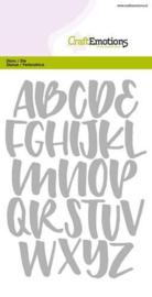CraftEmotions Die (0512) alfabet handlettering hoofdletters