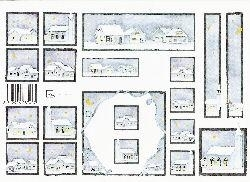 knipvel: huisjes in de sneeuw