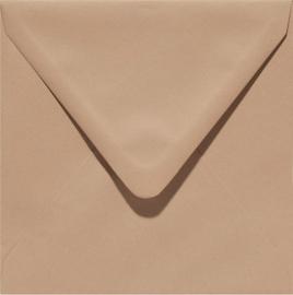 vierkante envelop (14 x 14 cm) mocca (953) voorheen 53 mocca