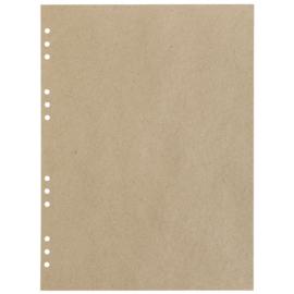 (Art.no. 920609) 20 vel MyArtBook Paper 110 GSM Recycling Kraft Fluting Grey Size 314 x 420 mm (A3)
