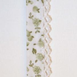 Biaisband groene bloemen (31)