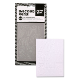 Paperfuel Embossing folder A6 you make me smile PF106001