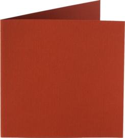 vierkante kaart (13,2 x 13,2 cm) steenrood (935) voorheen 35 steenrood