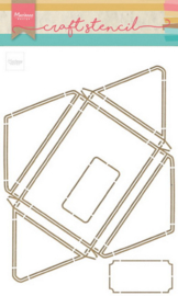 Craft stencil A4 - Envelope PS8071