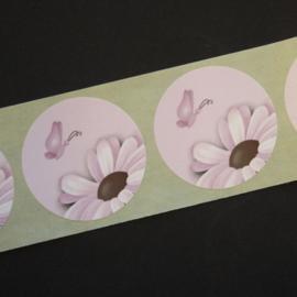 Sluitstickers - 10 stuks - lichtroze bloem