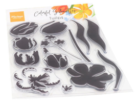 Clear stamp CS1054  Colorful Silhouettes Tulips