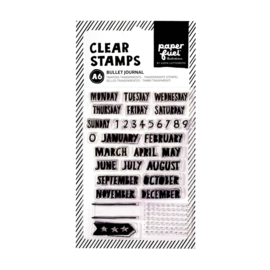 Paperfuel Clear stamp A6 bullet journal PF107004