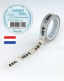 Washi tape Maanden 10 mm x 5 m 61.7095