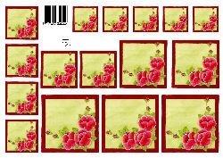 knipvel: rode bloemen