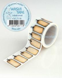Washi tape Labels klein 30 mm x 5 m 61.7118