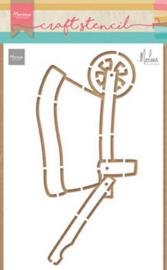 Craft stencil (PS 8022) wheelbarrow