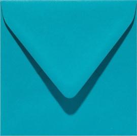 vierkante envelop (14 x 14 cm) turkoois (932) voorheen 32 turkoois