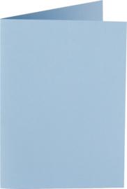 rechthoekige staande kaart (10,5 x 14,8 cm) blauw (955)