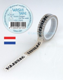 Washi tape Dagen van de week 10 mm x 5 m 61.7095