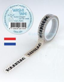 Washi tape Dagen van de week 10 mm x 5 m 61.7095