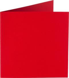 rechthoekige staande kaart (10,5 x 14,8 cm) rood (918) voorheen 12 fiëstarood