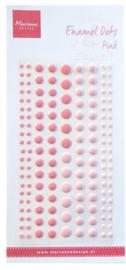 Enamel dots two pink PL4517
