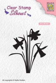 Nellies Choice Clearstempel: Silhouette narcis SIL064 53x59mm