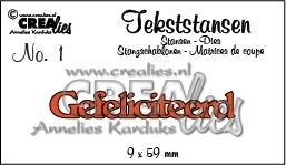 Stans Crealies: Gefeliciteerd (CLTS01)