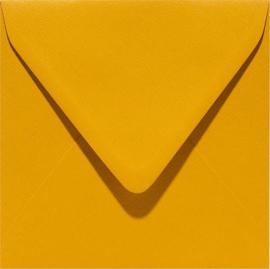 vierkante envelop (14 x 14 cm) mosterdgeel (948) voorheen 48 mosterdgeel