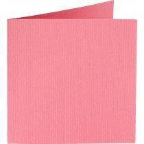 vierkante kaart (13,2 x 13,2 cm) hardroze (915) voorheen 15 rose