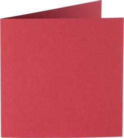vierkante kaart (13,2 x 13,2 cm) cerise (933) voorheen 33 cerise