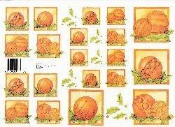 knipvel: oranje kerstballen