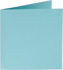 vierkante kaart (13,2 x 13,2 cm) azuurblauw (904) voorheen 04 azuurblauw