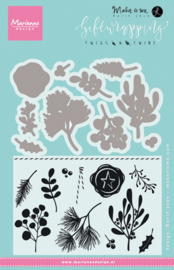Clear stamp: (KJ1715) twigs & twine