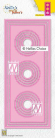 Nellies Choice Multi Frame Die - Slimline cirkel MFD139