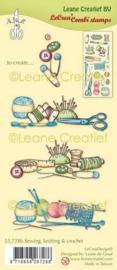 Clear stamp Leane Naaien, breien & haken 55.7286