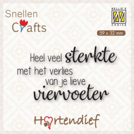 Nellies Choice Clearstamp - Text (NL) - Dieren condoleance nr.3 DTPCS003