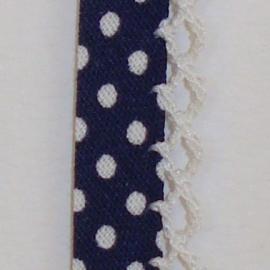 Biaisband donkerblauwe stip (24)
