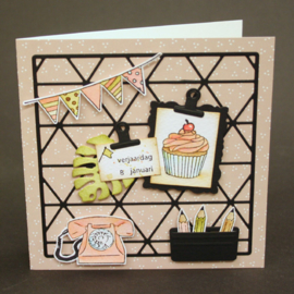 Craftables stencil Card display CR1521