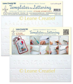 2 Templates for Handlettering Alphabet style 3, Upper case + Lowercase + Numbers
