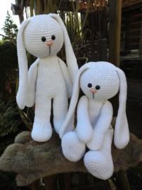 XXL Haakpakket Funny Bunny Basic wit (staand / zittend)
