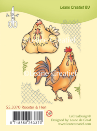 Clear stamp Leane: Rooster & Hen (553370)