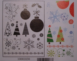 Artemio clear stamp: diverse kerstmis (10001030)