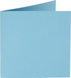 vierkante kaart (13,2 x 13,2 cm) celeste (942) vergelijkbaar met 42 ijsblauw