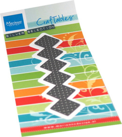 Craftables stencil Cross stitch border plaid CR1532
