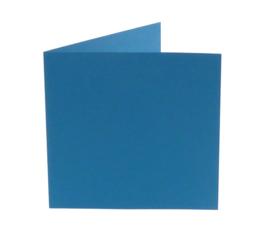 vierkante kaart (13,2 x 13,2 cm) korenblauw (965) lijkt op korenblauw 05