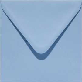 vierkante envelop (14 x 14 cm) blauw (955)