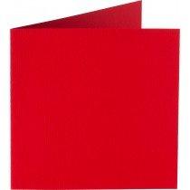 vierkante kaart (13,2 x 13,2 cm) rood (918) voorheen 12 fiëstarood