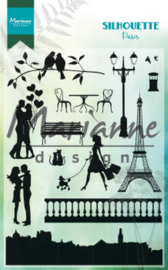 Clear stamp: (CS1027) silhouette Paris